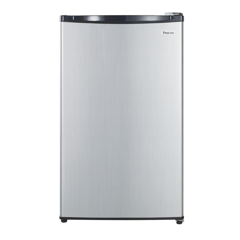 Magic Chef 4.3 cu. ft. Mini Refrigerator in Stainless Look, ENERGY STAR
