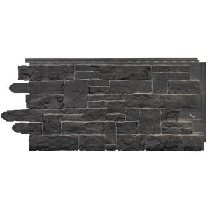Novik Stacked Stone 45 In X 20 1 4 In Polymer Onyx Siding 10 Pack 100140005 The Home Depot