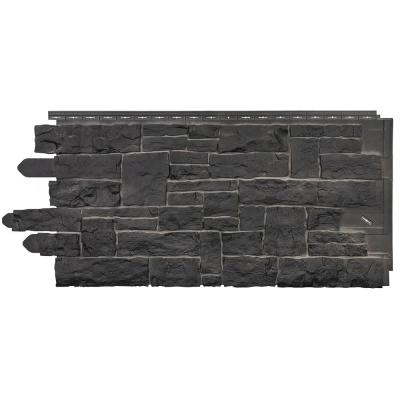 Stacked Stone 45 in. x 20-1/4 in. Polymer Onyx Vinyl Siding (10-Pack)