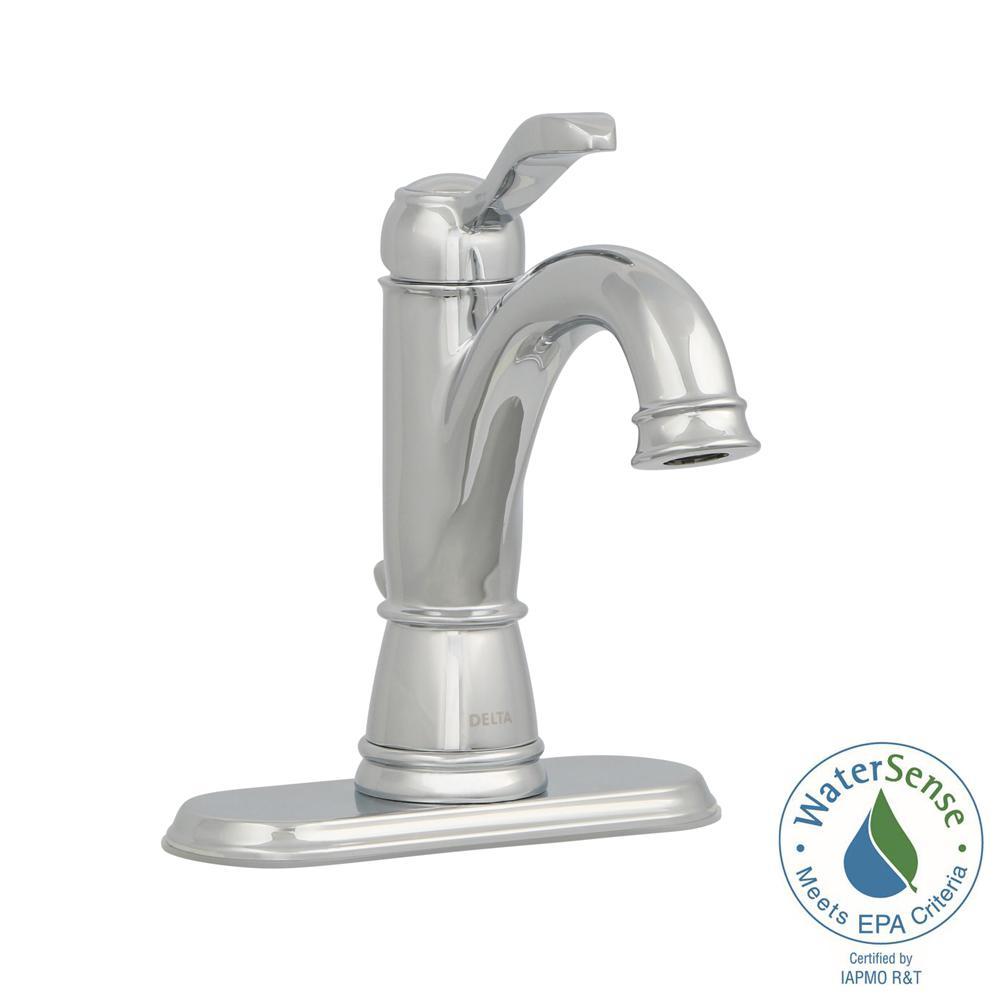 Delta Porter Single Hole Single Handle High Arc Bathroom Faucet In Chrome
