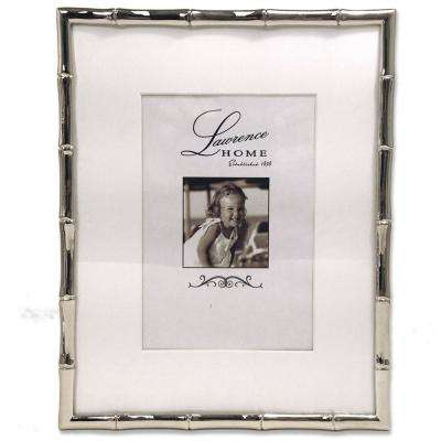 Silver Metal Bamboo 8 in. x 10 in. Matted for 5 in. x 7 in. Picture Frame