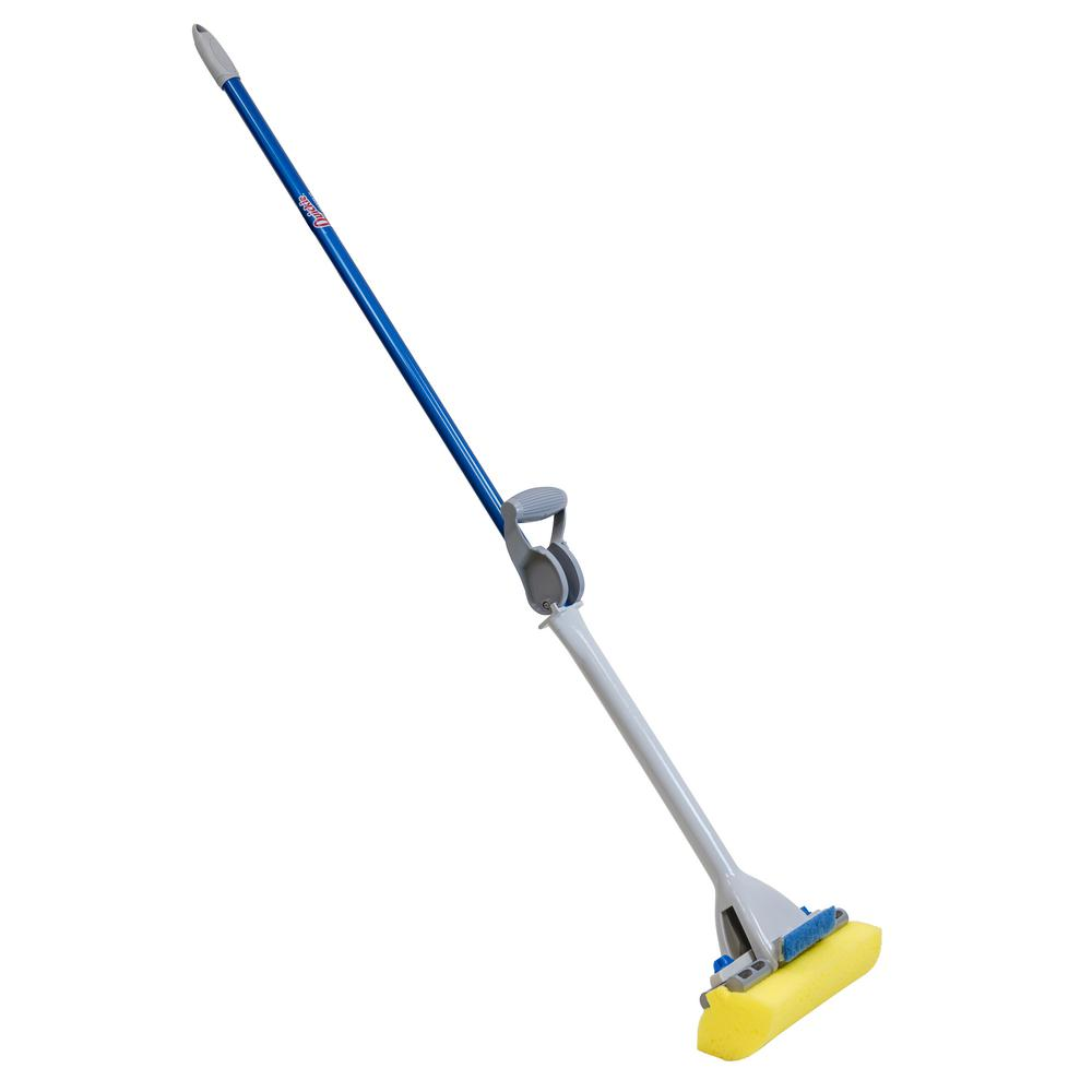 Mop and Scrub Roller Sponge Mop with Scrub Brush and Microban