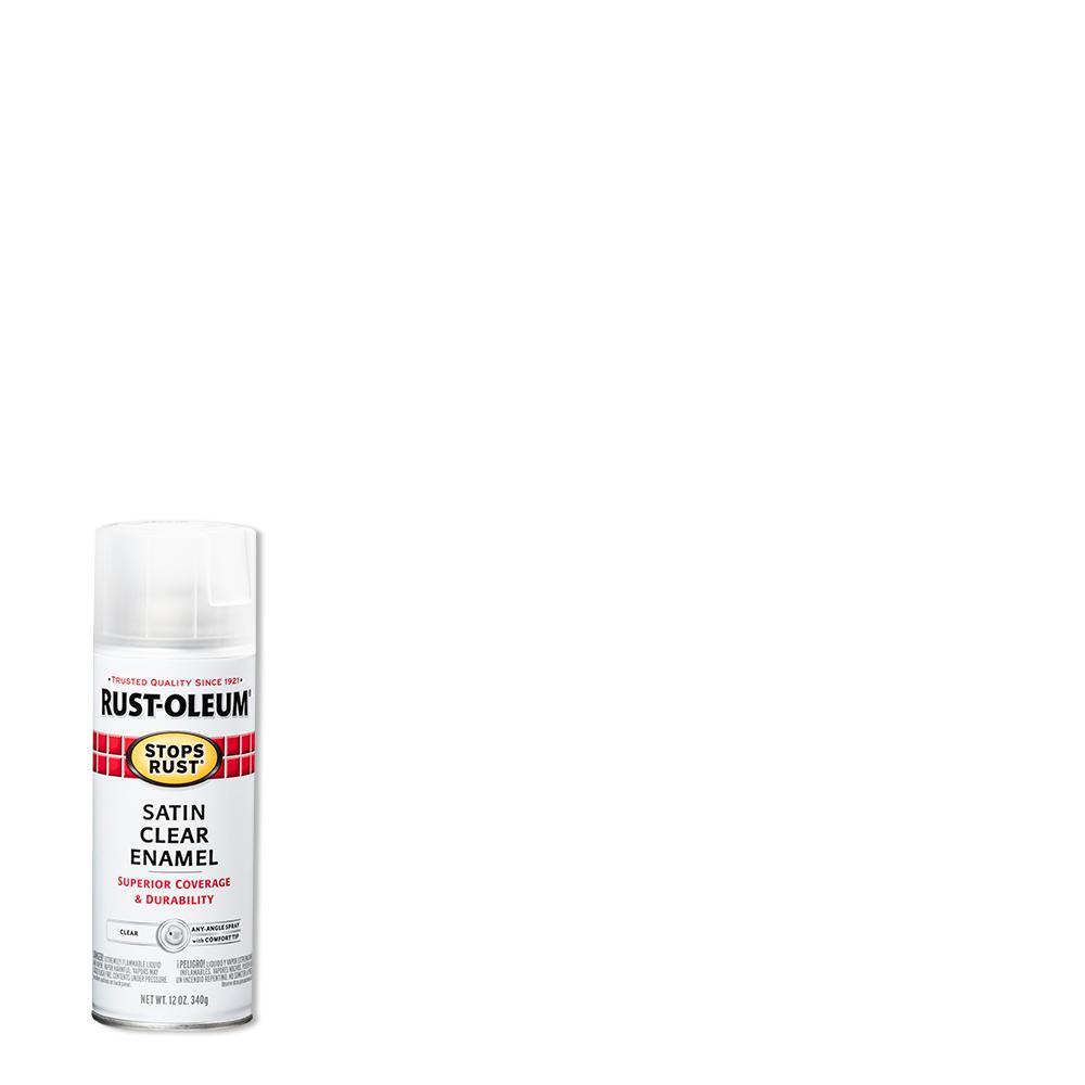 Rust-Oleum Stops Rust 12 oz. Protective Enamel Satin Clear Spray Paint (6-Pack)