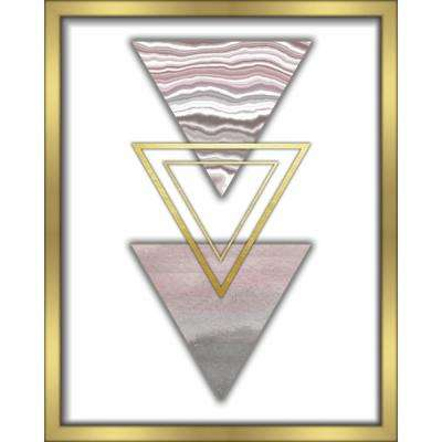 "16 in. x 20 in. ""3 Triangles-Blush"" Shadowbox Wall Art"