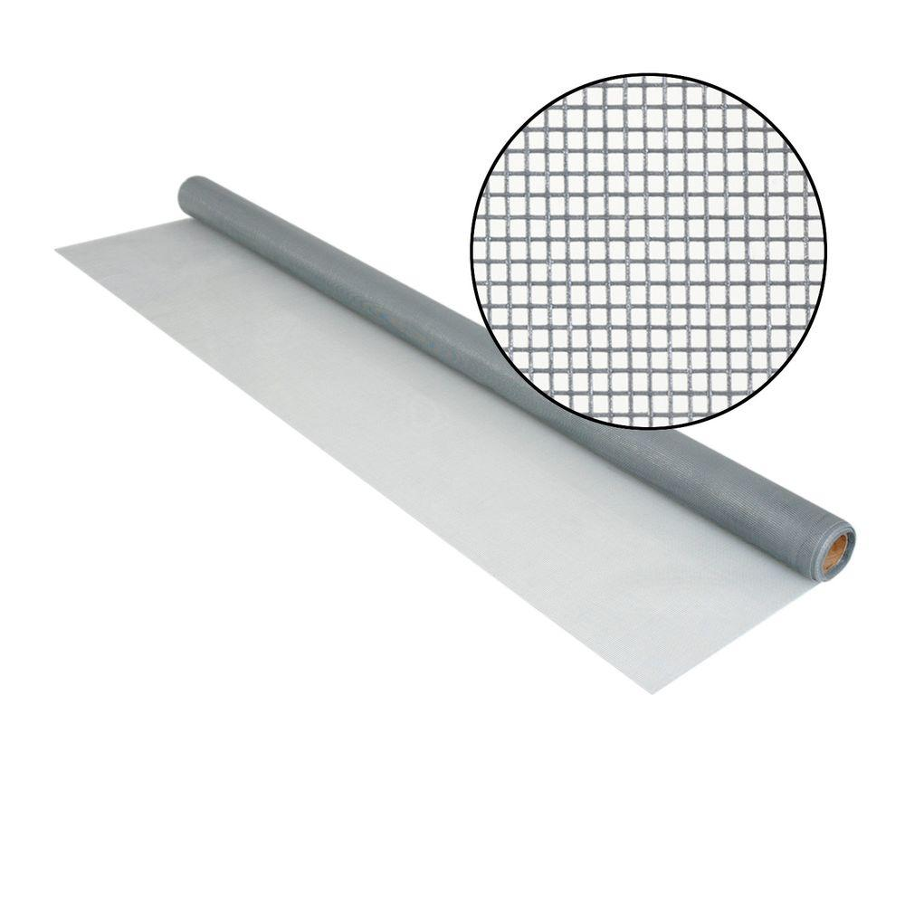 Phifer 48 in. x 25 ft. Silvergray Fiberglass Screen