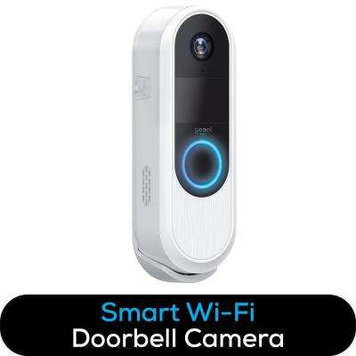 QUICKPEEK Wireless Wi-Fi Smart Video Doorbell Camera with Wireless Chime, Rechargeable Battery, No Hub Required in White