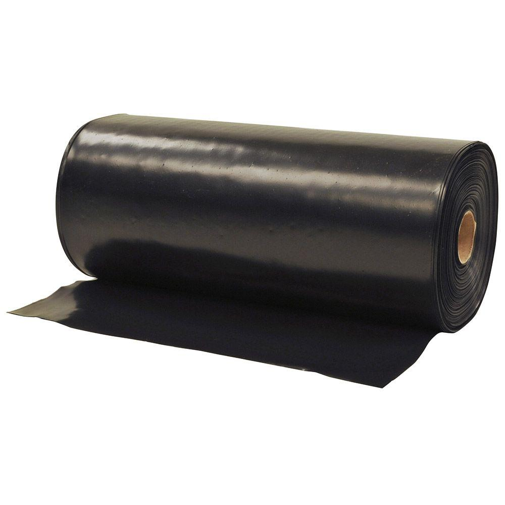 1 ft. x 300 ft. Black Flashing Plastic Sheeting