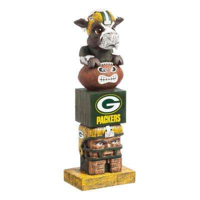 Green Bay Packers Tiki Totem Garden Statue