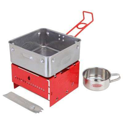 Camp Stove Kit with Frame and Wind-Shield Panels