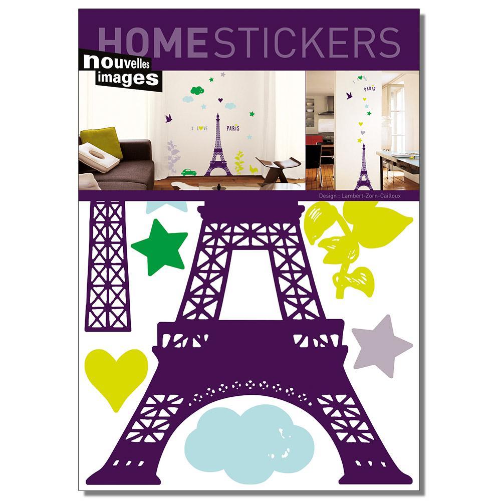Multicolor I Love Paris Home Sticker
