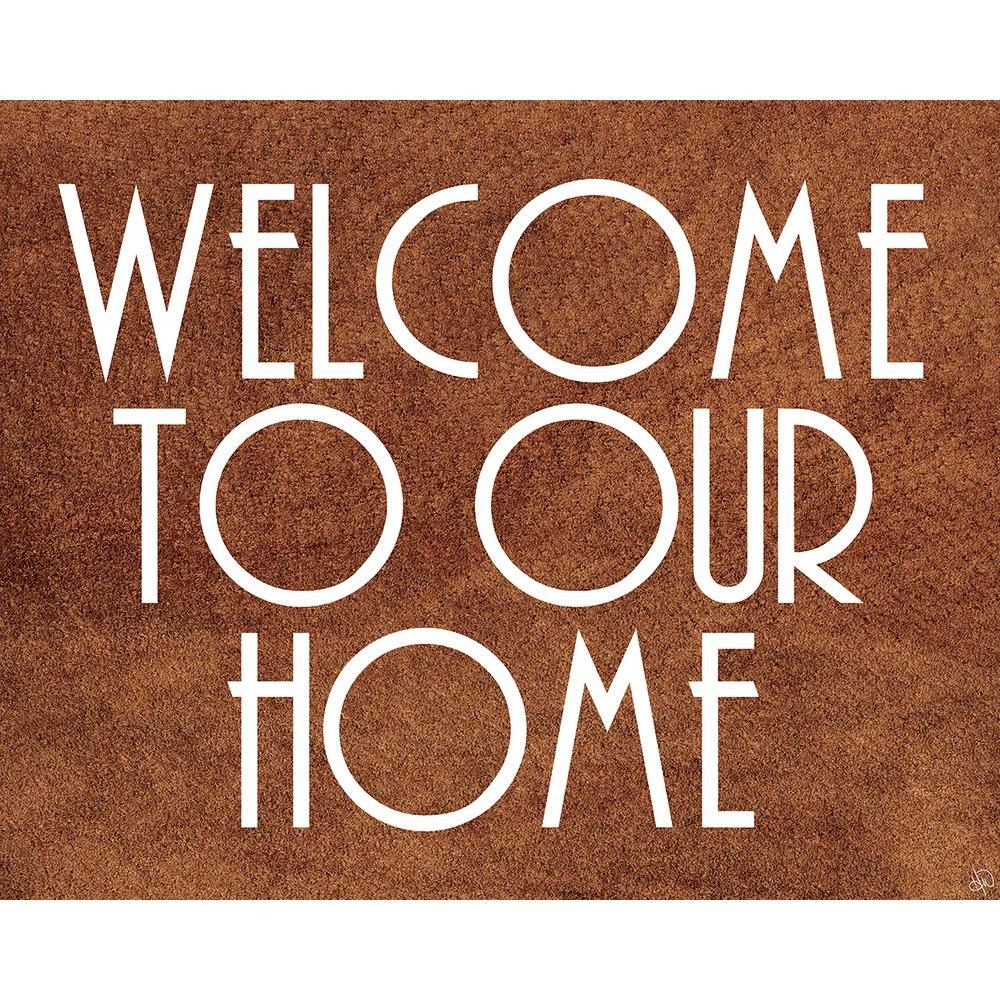 "20 in. x 24 in. ""Welcome"" Wrapped Canvas Wall Art Print"