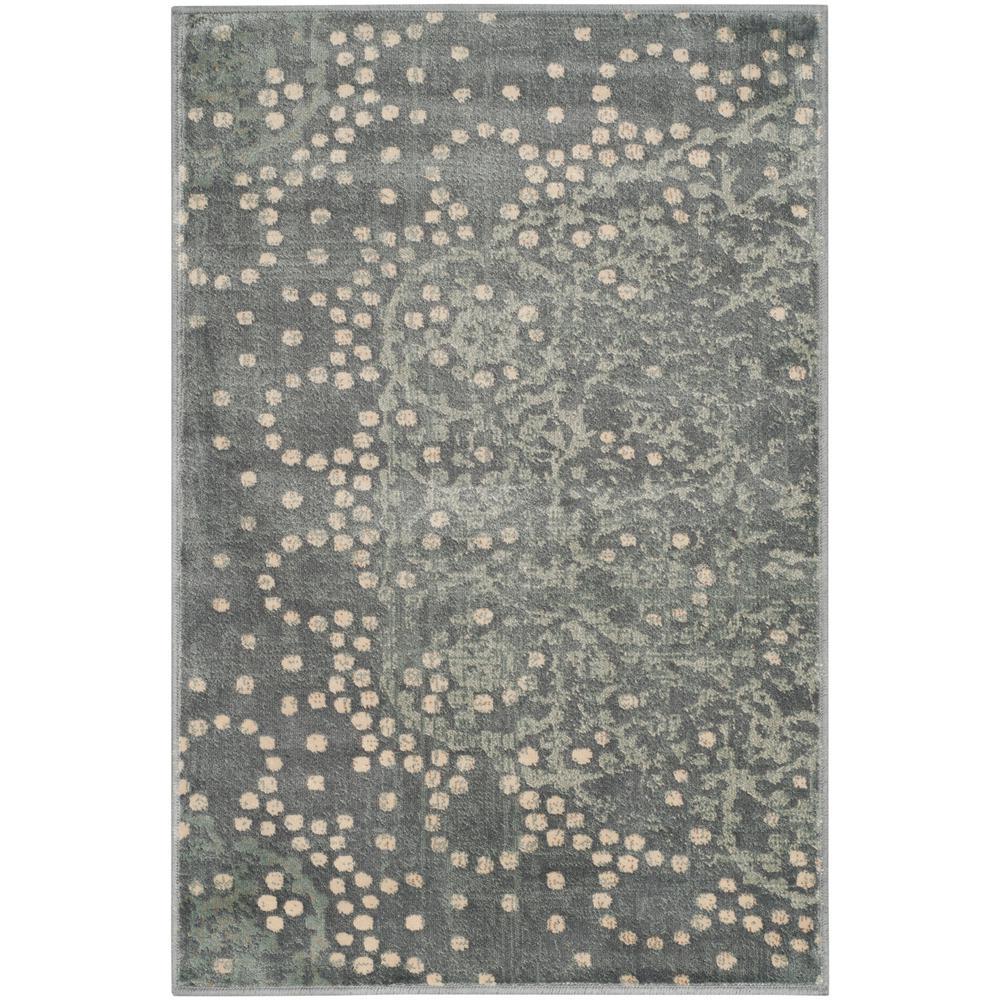 Constellation Vintage Gray/Multi 2 ft. x 3 ft. Area Rug