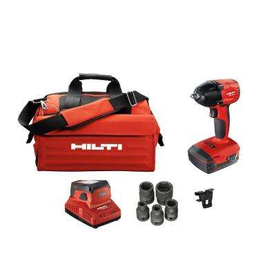 22-Volt SIW Advanced Cordless 1/2 in. Brushless Impact Wrench with 3.0 Li-Ion Battery, Charger, Bag and Sockets
