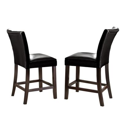 Matinee Black 24 in. Counter Chair (Set of 2)