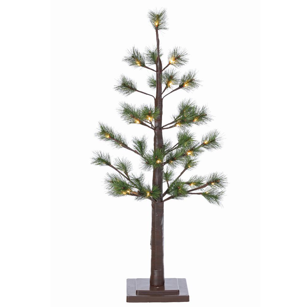 sterling 3 ft indoor pre lit led pine needle artificial. Black Bedroom Furniture Sets. Home Design Ideas