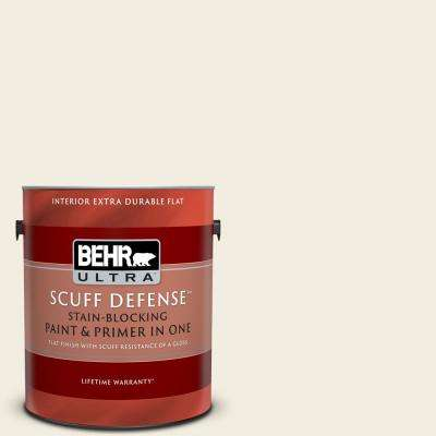 1 gal. #12 Swiss Coffee Extra Durable Flat Interior Paint and Primer in One