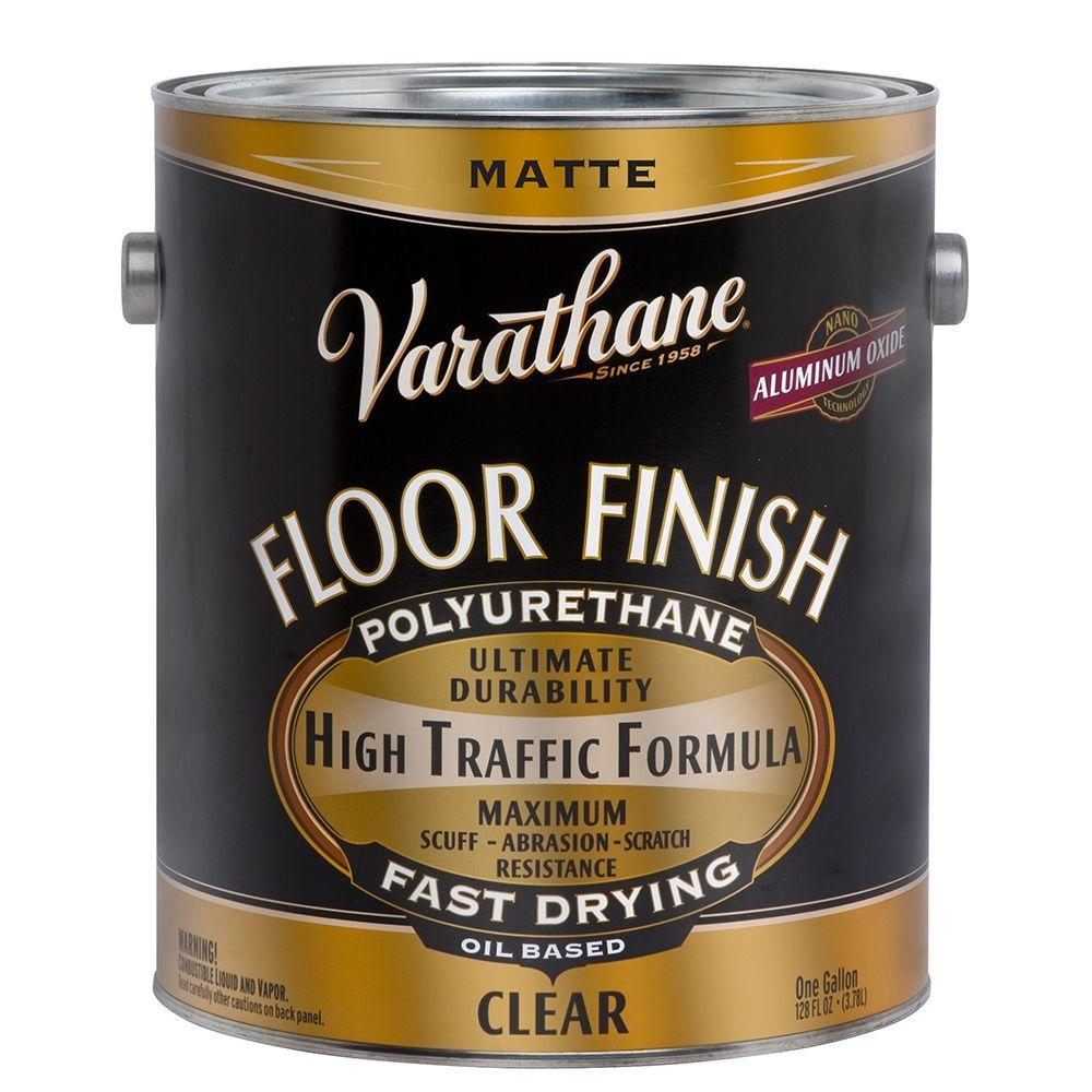 Varathane 1 gal. Clear Matte 350 VOC Oil Based Interior Polyurethane (2-Pack)