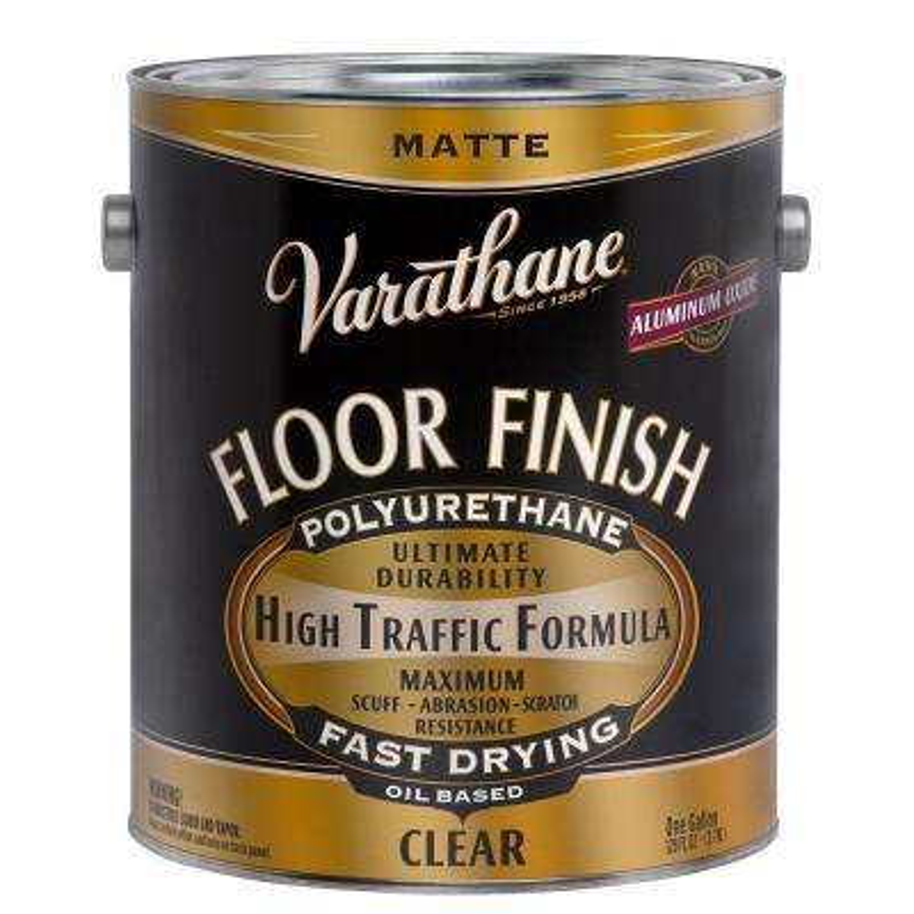 1 gal. Clear Matte 350 VOC Oil Based Interior Polyurethane (2-Pack)