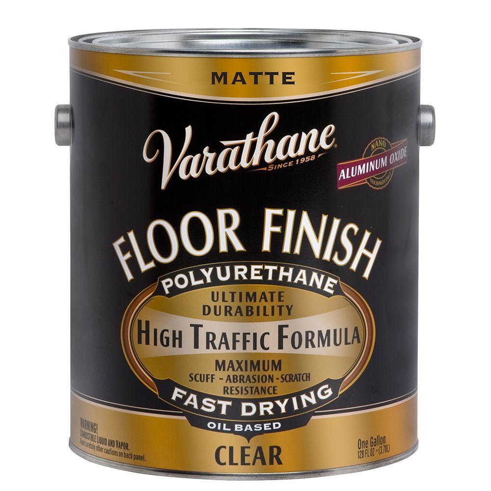 1 gal. Clear Matte 350 VOC Oil Based Interior Polyurethane (Case of 2)