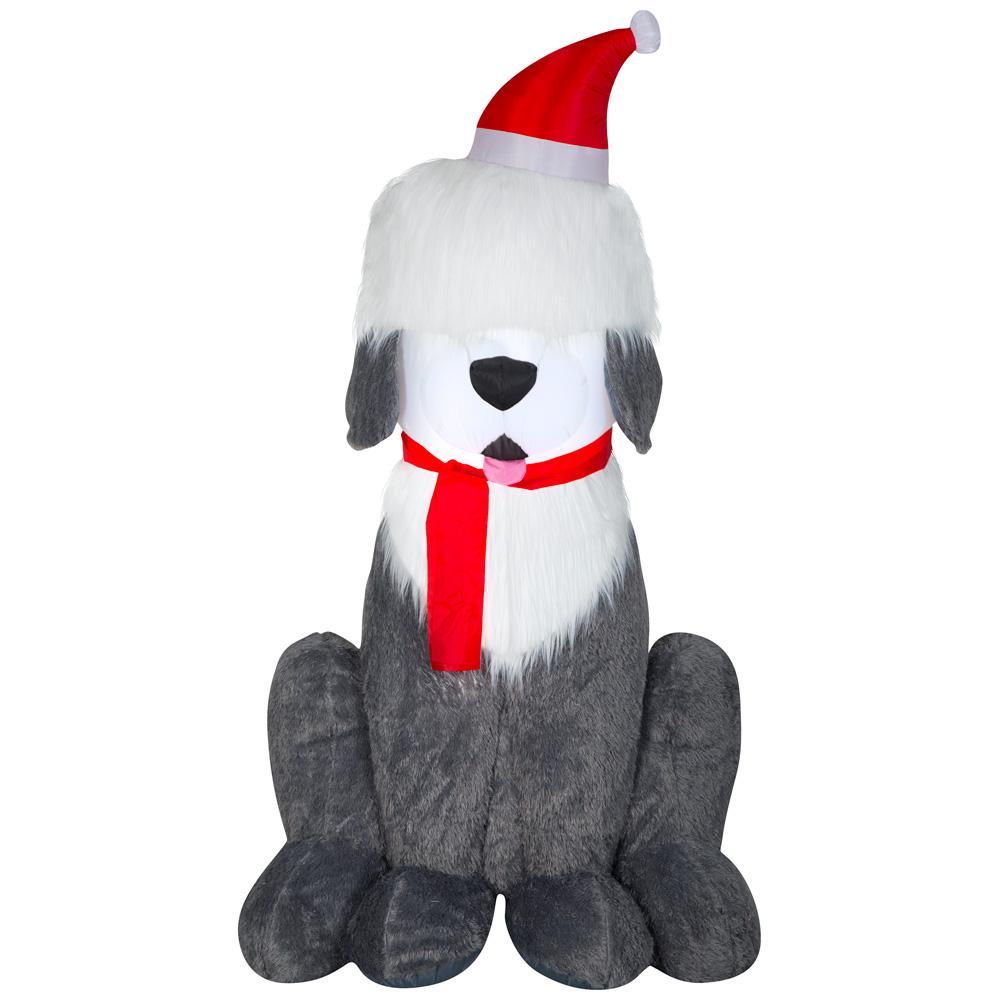 7 ft. Inflatable Fuzzy Plush Sheep Dog