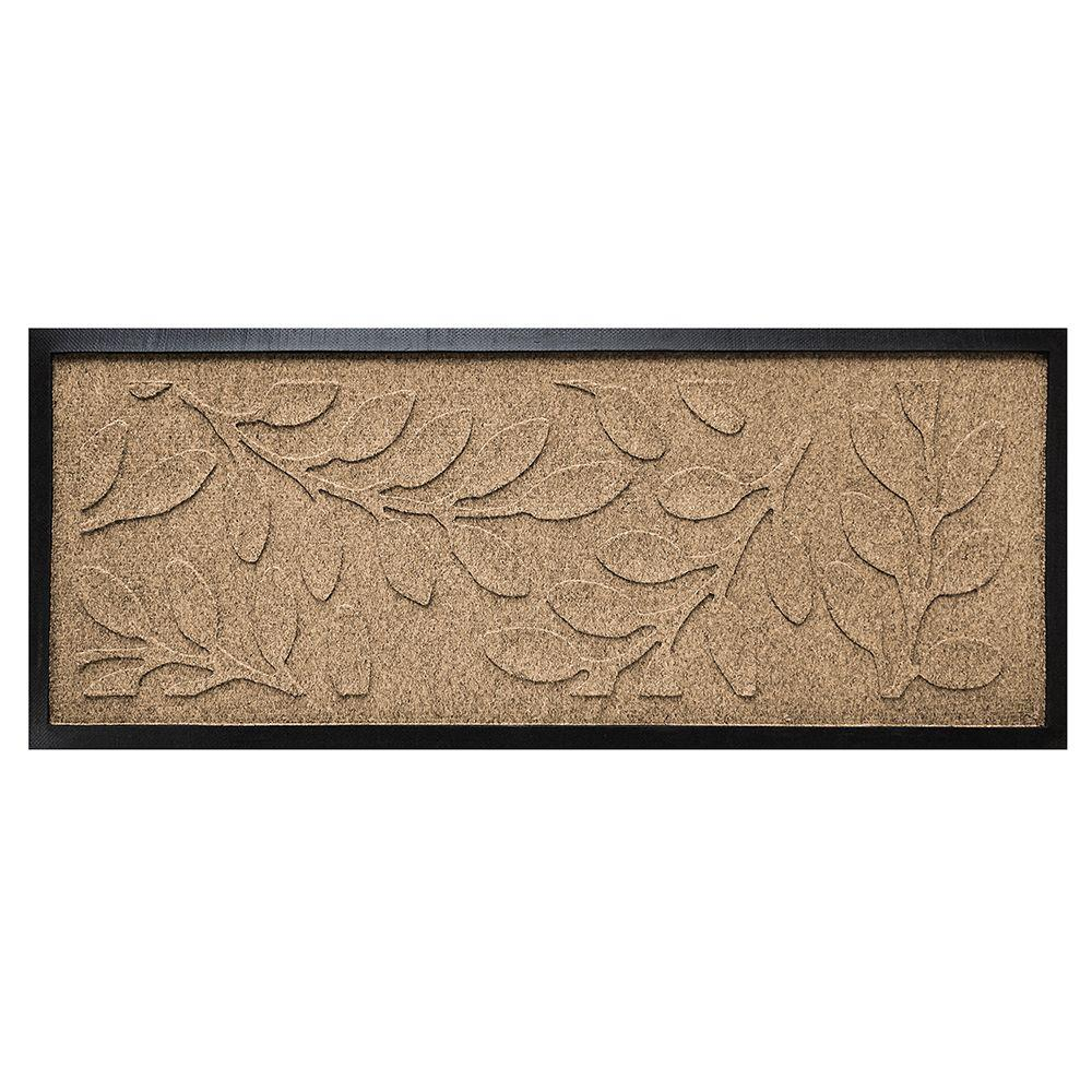 Khaki 15 in. x 36 in. Brittany Leaf Boot Tray