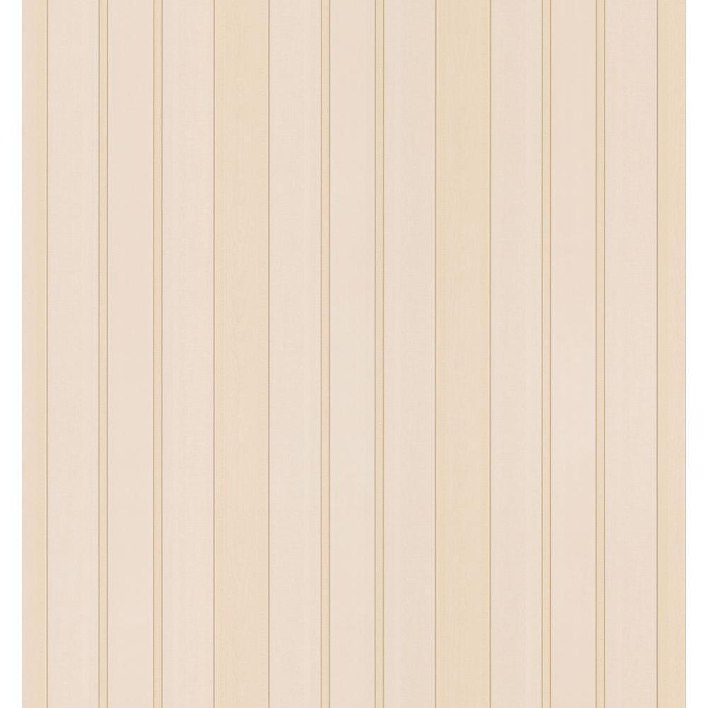 Cameo Rose IV Neutral Morie Stripe Wallpaper Sample