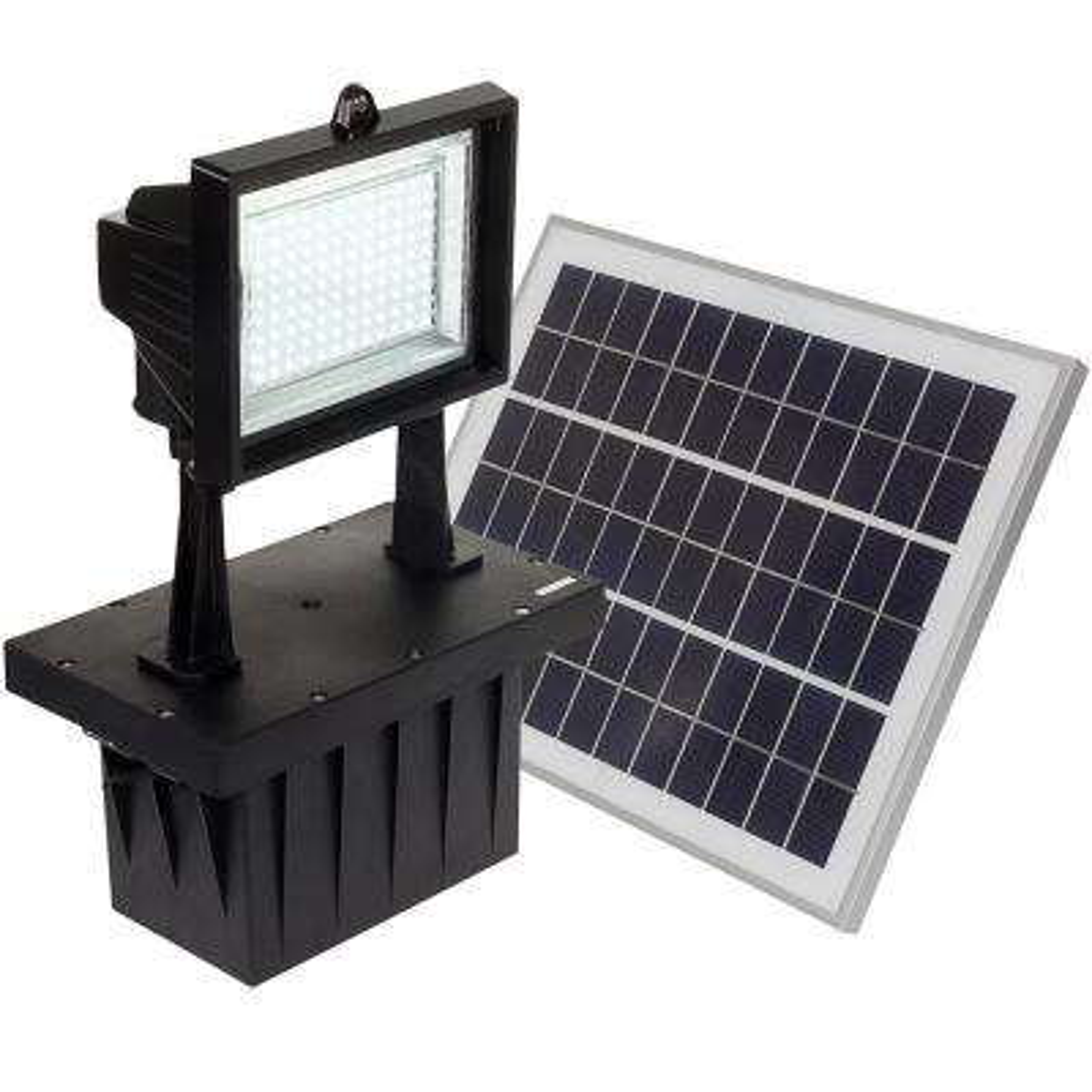 5-Watt Black Solar Integrated LED Outdoor Ground Mount Flood Light