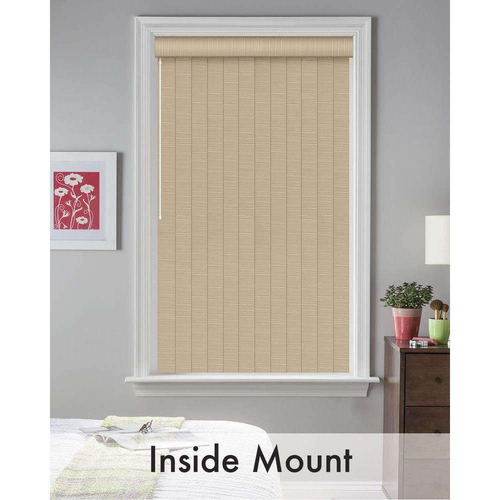 Bali Cut-to-Size 3.5 in. W x 66 in. L Sula Putty 3.6 Vertical Blind/Louver Set