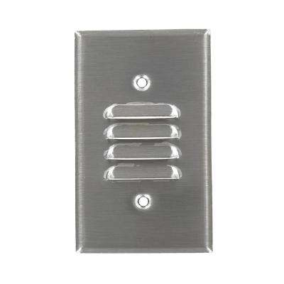 1-Gang Standard Size Louvre Strap Mount Wallplate, Stainless Steel