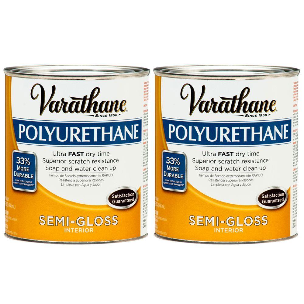 Varathane 1 Qt. Amber Semi-Gloss Polyurethane (2-Pack)-DISCONTINUED