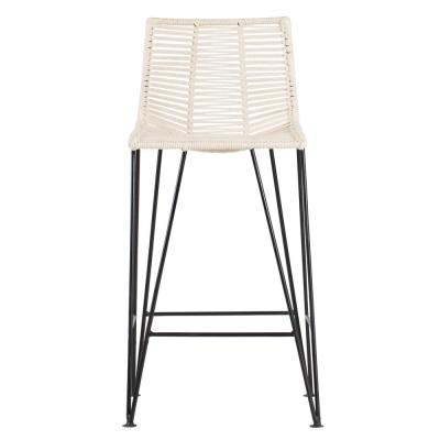 Odette 36 in. Ivory Bar Stool