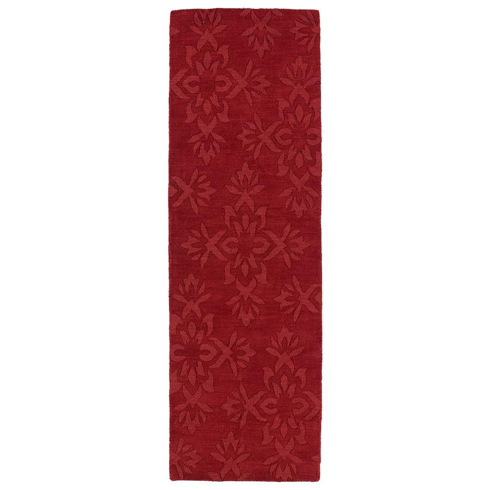 Kaleen Imprints Classic Red 2 ft. 6 in. x 8 ft. Runner