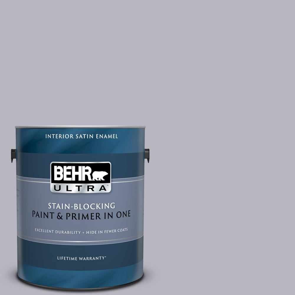 BEHR ULTRA 1 gal  #N550-3 Best in Show Satin Enamel Interior Paint and  Primer in One