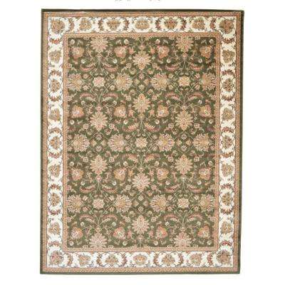 Kashan Allover Khaki 7 ft. 10 in. x 10 ft. 2 in. Area Rug