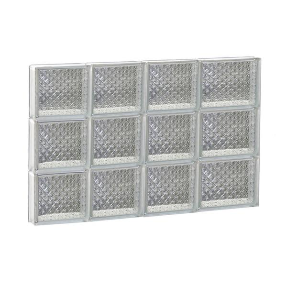 25 in. x 17.25 in. x 3.125 in. Frameless Non-Vented Diamond Pattern Glass Block Window