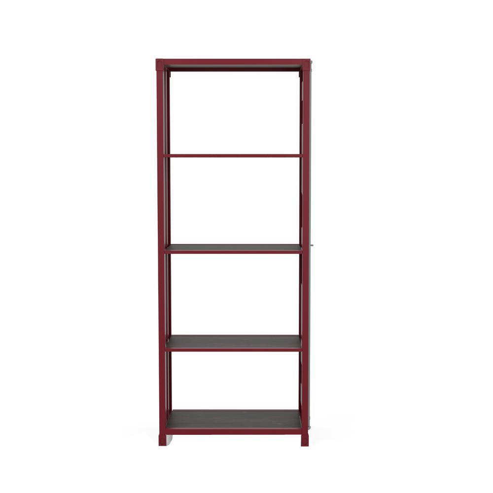 Klimson 64 in.H Red 4-Shelf Bookcase