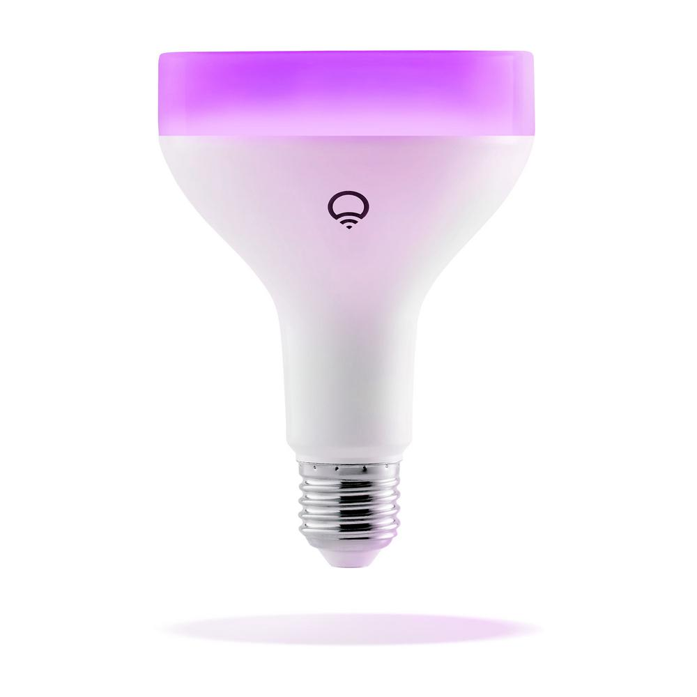 lifx 75 watt equivalent br30 multi color dimmable wi fi smart connected led light bulb. Black Bedroom Furniture Sets. Home Design Ideas
