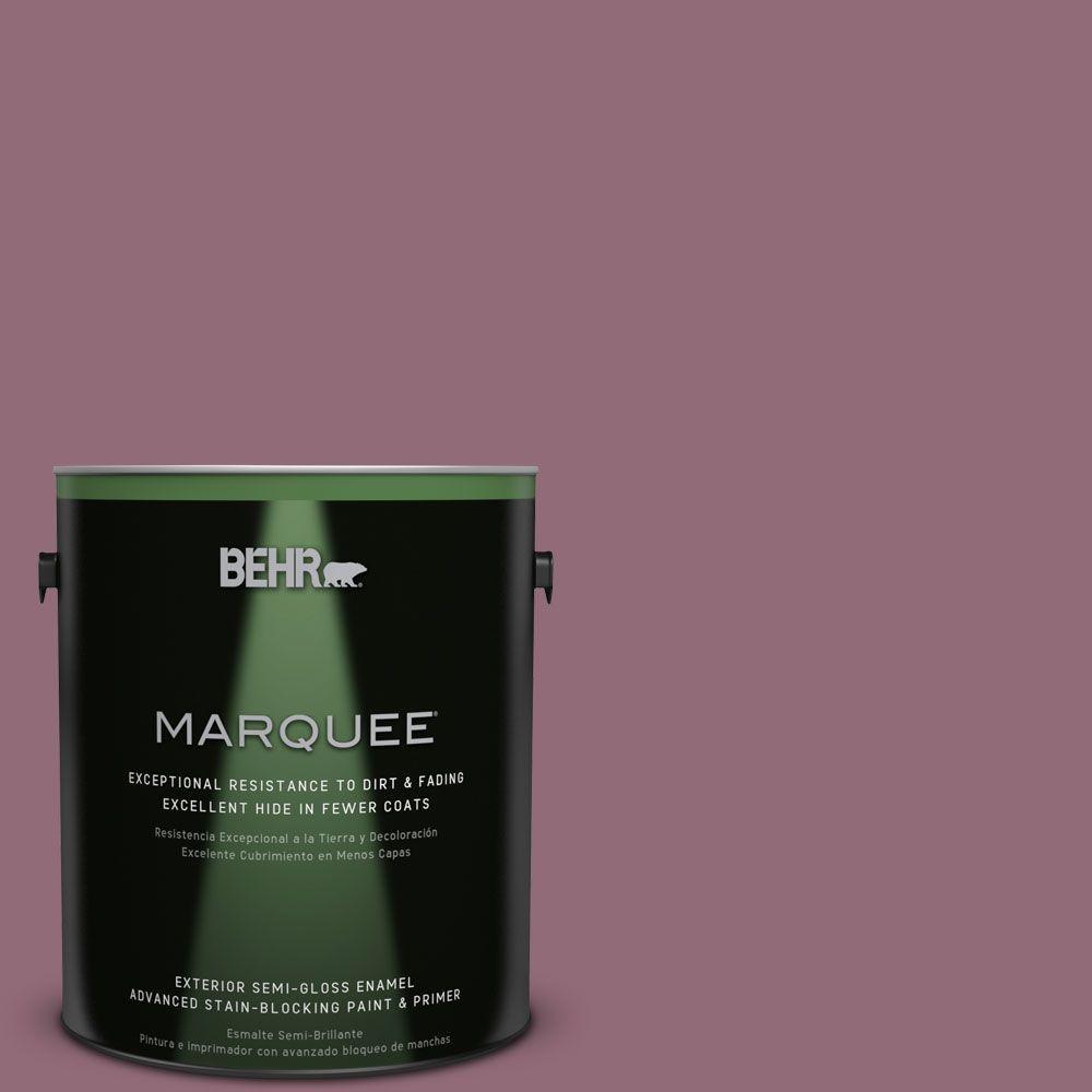 1-gal. #S120-6 Full Glass Semi-Gloss Enamel Exterior Paint