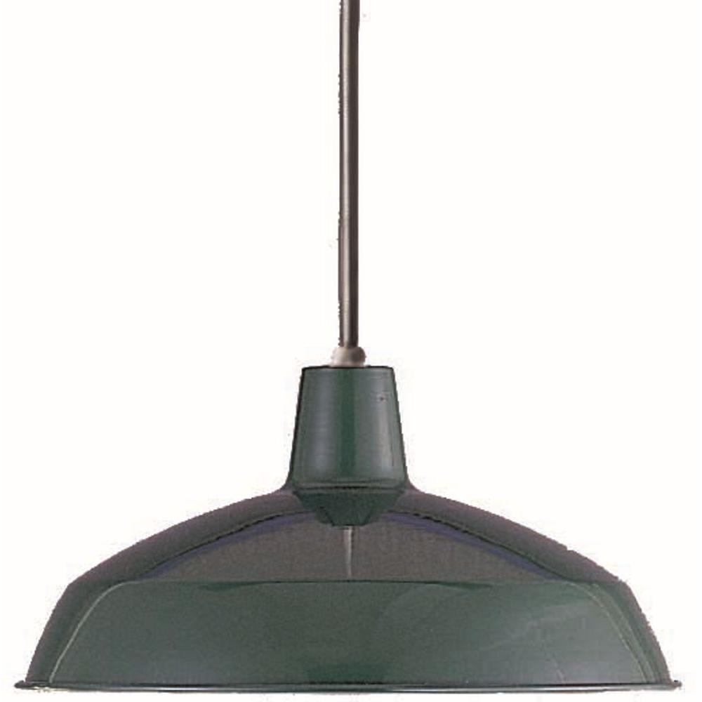 1-Light Dark Green Interior Pendant