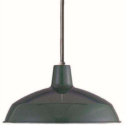 1-Light Dark Green Interior Pendant