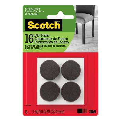 4 in. x 6 in. Brown Rectangle Surface Protection Felt Floor Pads ((2-Pack)(Case of 24))
