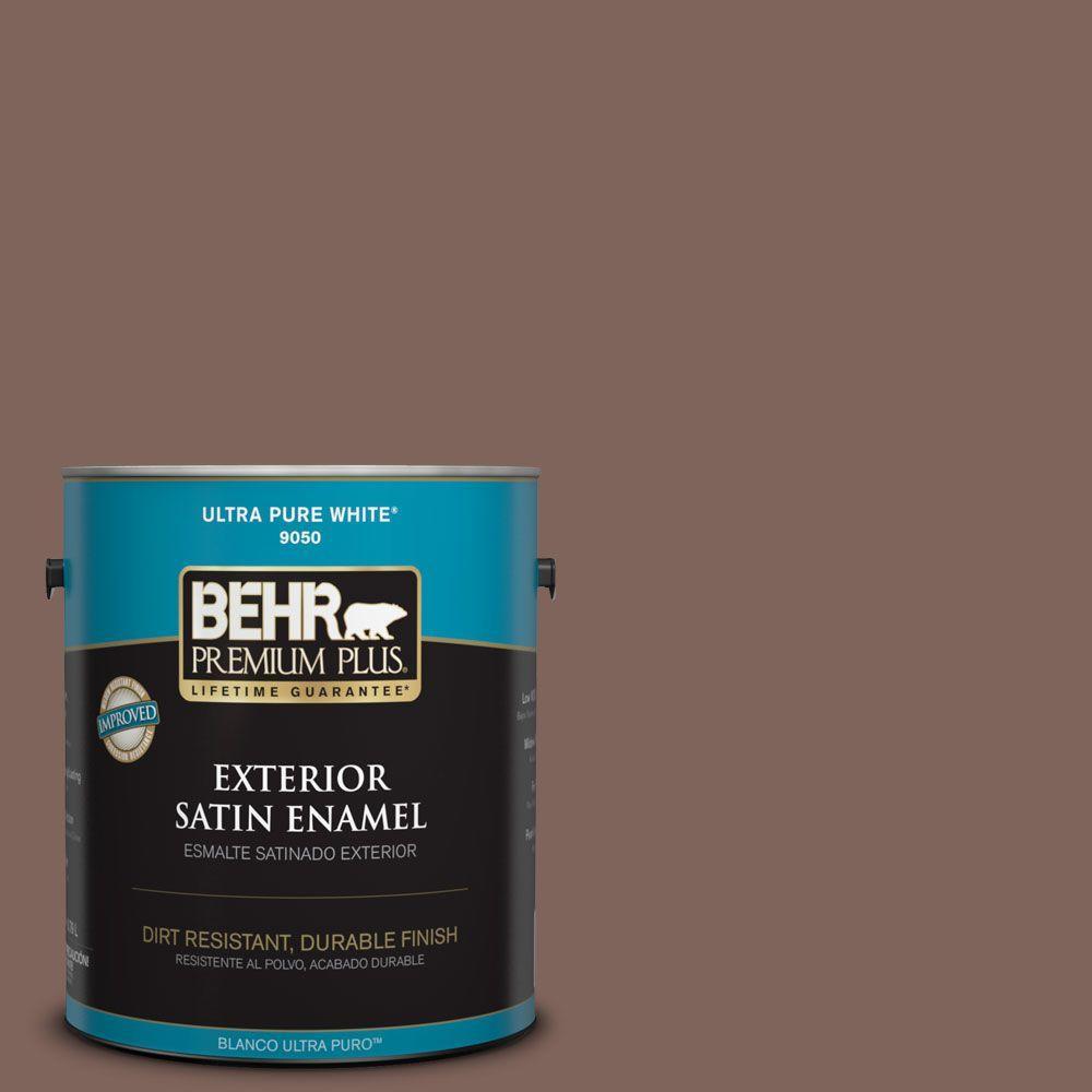 1-gal. #BNC-23 Almond Truffle Satin Enamel Exterior Paint