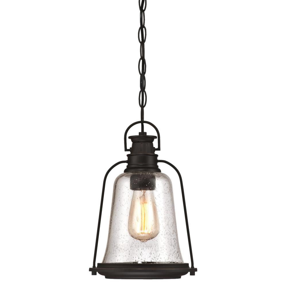 Westinghouse Brynn 1 Light Oil Rubbed Bronze With Highlights Outdoor Hanging Pendant
