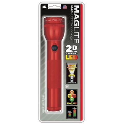Red LED 2D Flashlight