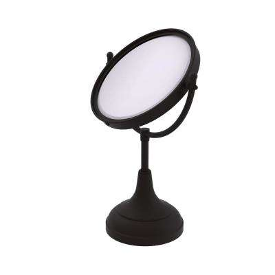 15 in. x 8 in. Vanity Top Make-Up Mirror 4x Magnification in Oil Rubbed Bronze