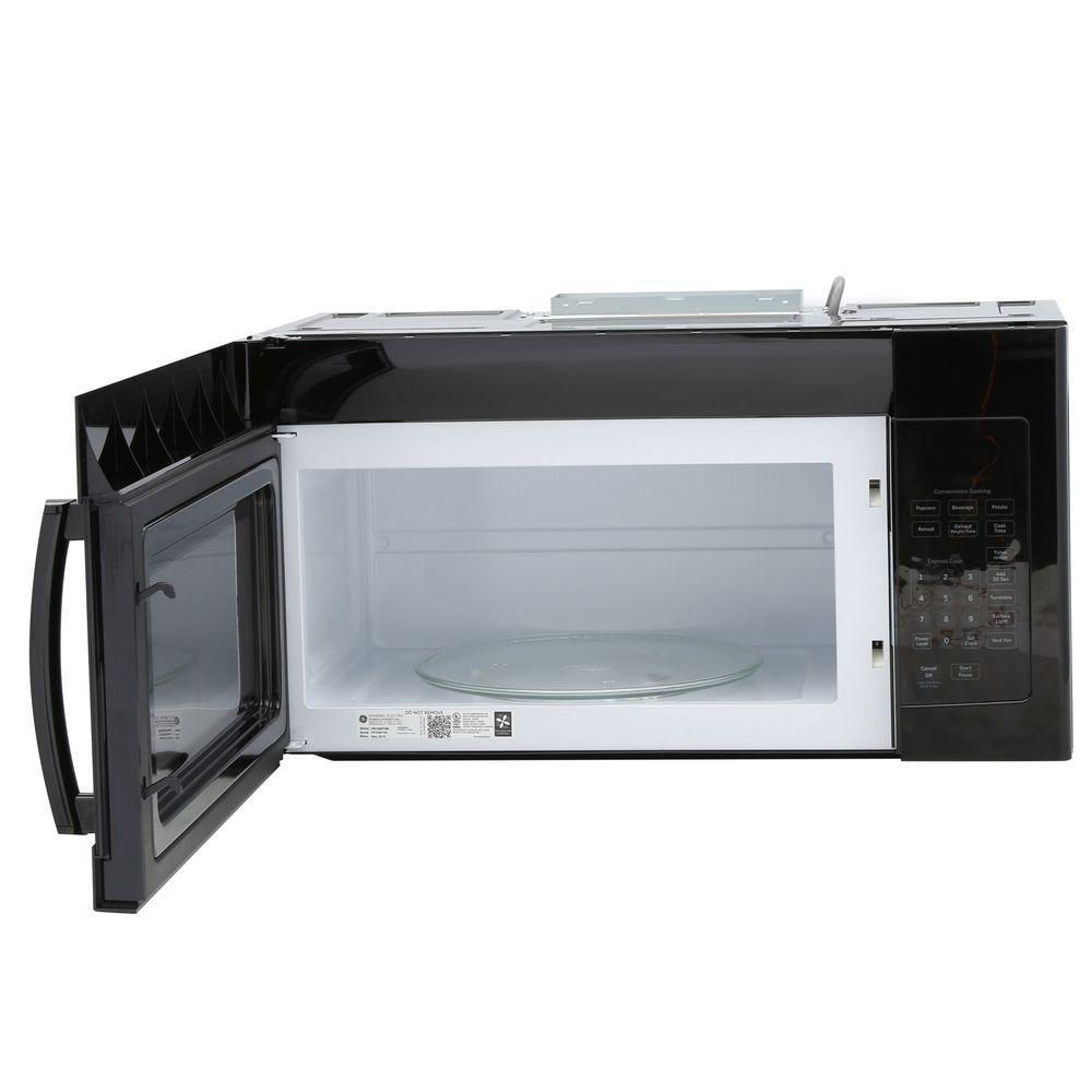 Ge 1 6 Cu Ft Over The Range Microwave Oven In Black Jvm3160dfbb Home Depot