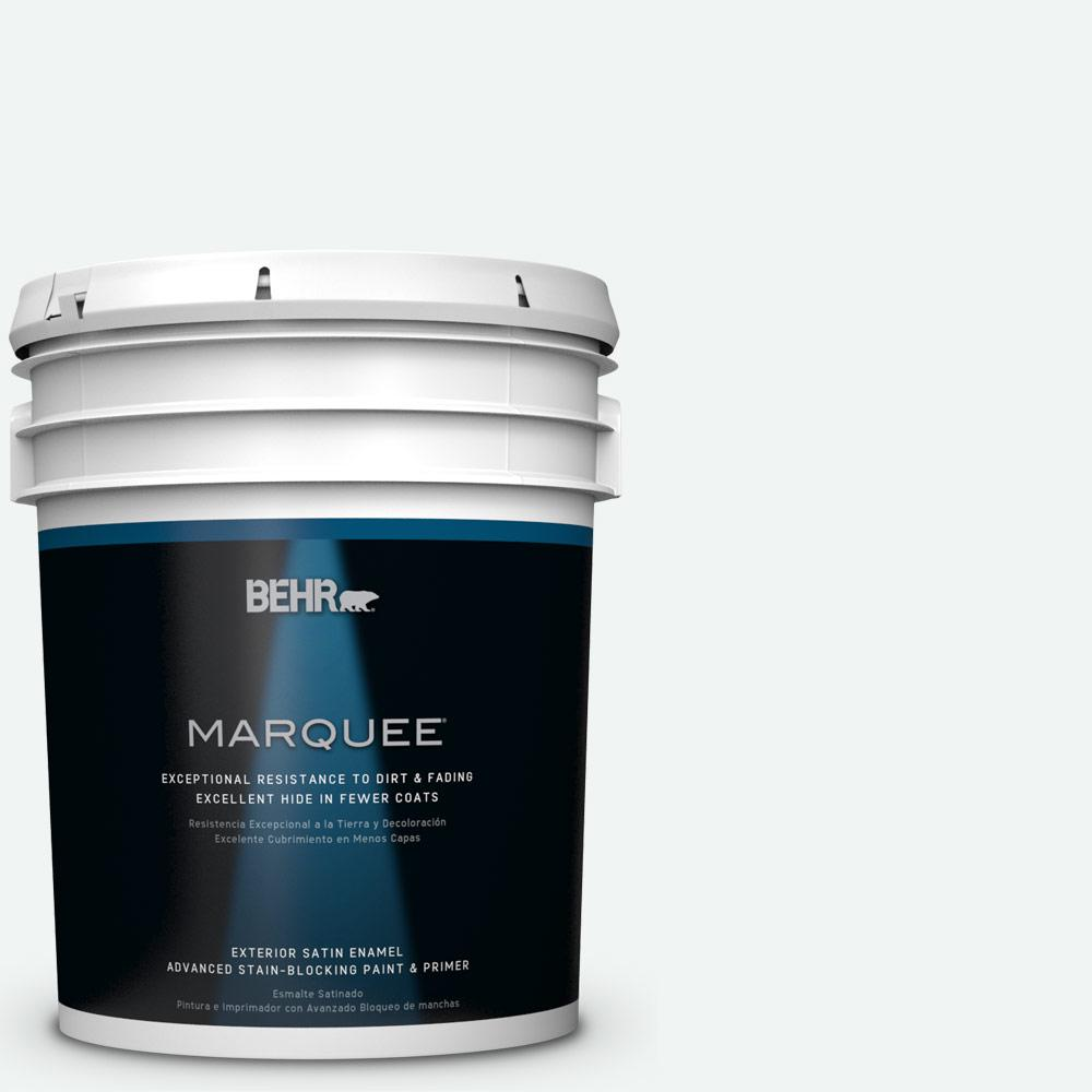BEHR MARQUEE 5-gal. #BL-W9 Bakery Box Satin Enamel Exterior Paint