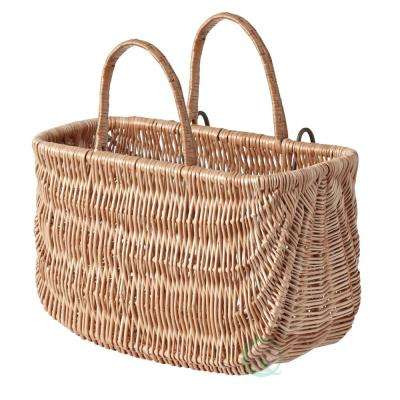 18 in. W x 9.2 in. D x 10.2 in. H Wicker Shopping Basket, Bike Basket