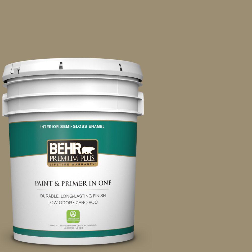 BEHR Premium Plus 5-gal. #740D-5 Twig Basket Zero VOC Semi-Gloss Enamel Interior Paint