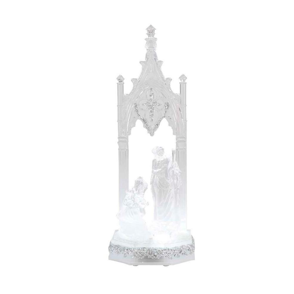 Home Accents Holiday 12 in. Crystalline Nativity Scene